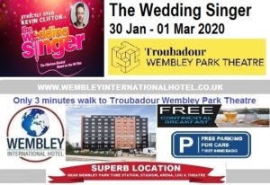 Wembley Park Theatre The Wedding Singer Jan 2020