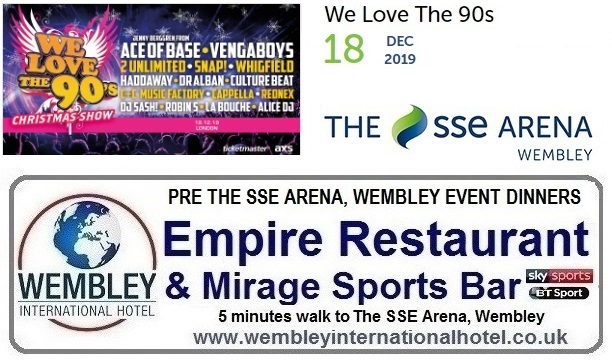 Pre Wembley Arena Event Dinners
