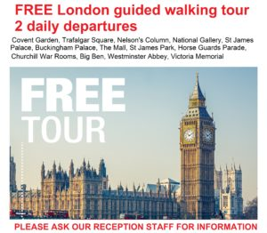Guided tour of London free