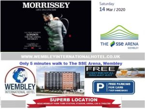 March 2020 Wembley Arena Morrisey