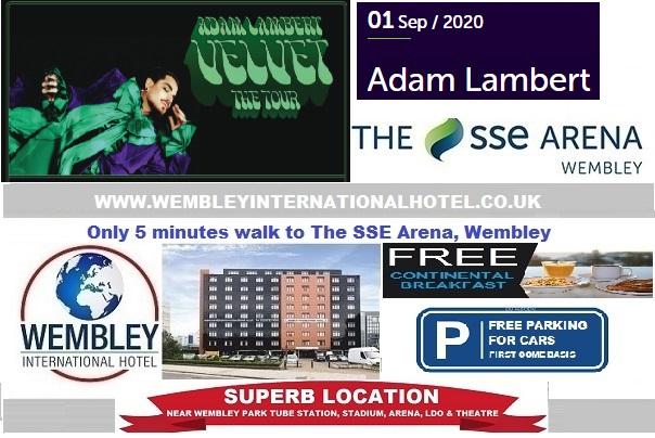 Wembley Arena Sep 2020 Adam Lambert Velvet Tour