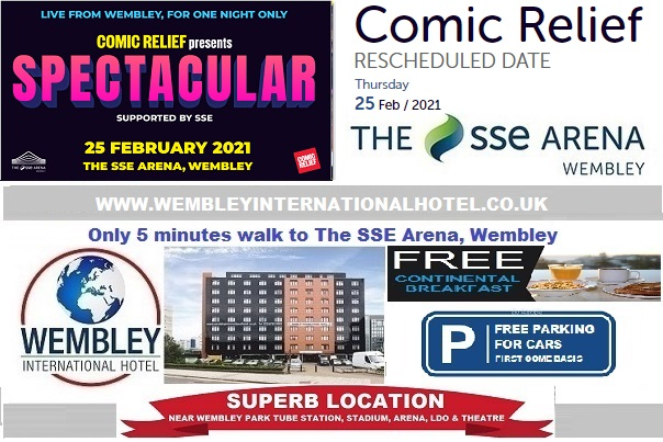 Wembley Arena Feb 2021 Comic Relief
