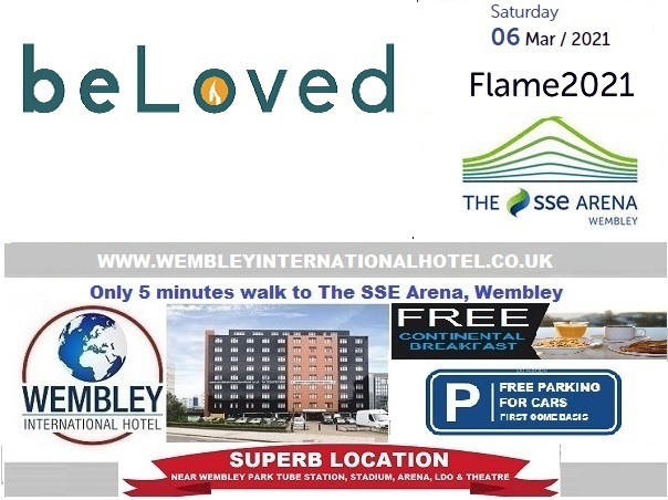 March 2021 Wembley Arena Flame 2021