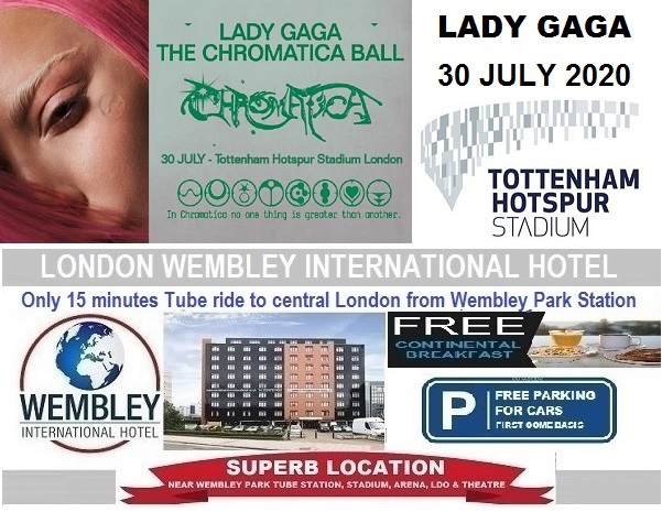 July 2020 Tottenham Stadium Lady Gaga
