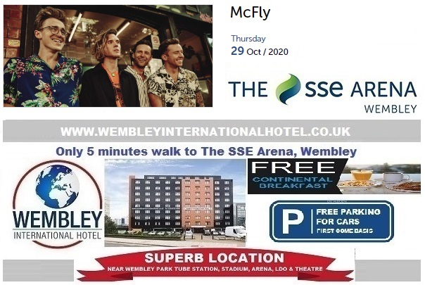 McFly rescheduled Wembley date 2020