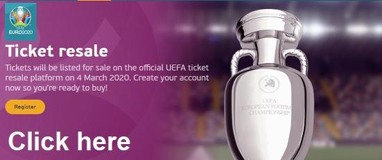 UEFA 2020 Ticket resale official site